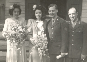 Bob Korstad's parents on their wedding day.